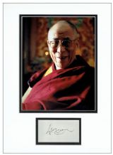 Dalai Lama Autograph Display